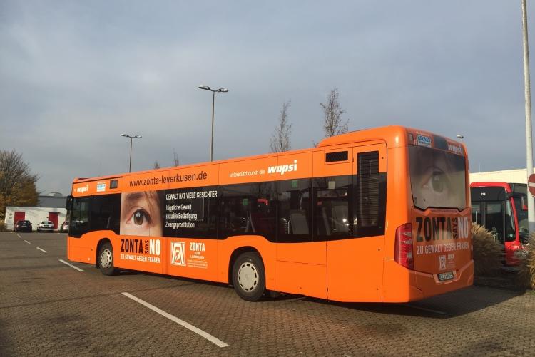 6 Monate wird der Zonta-Bus durch Leverkusen fahren!